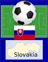 Slovakia soccerr football sport world flag map