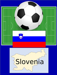 Slovenia soccer football sport world flag map