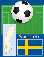 Sweden soccer football sport world flag map