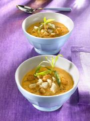 crème de lentilles et poulet - creamy lentils and chicken