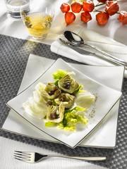 coeur d'artichauts en salade