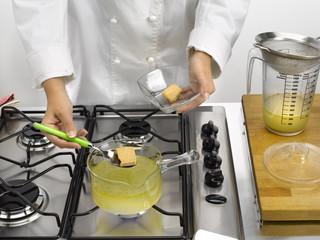 préparation d'un bouillon