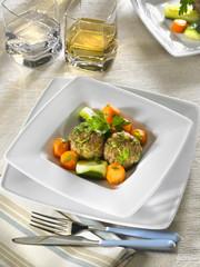 boulette d'agneau au foie gras - lamb meatballs and foie gras