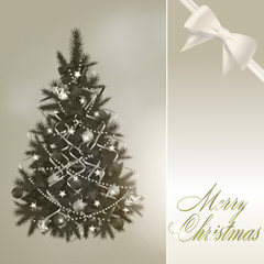 Abstract merry christmas greeting card
