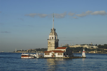 maiden tower - istanbul - lighthouse