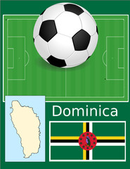 Dominica soccer football sport world flag map
