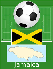 Jamaica soccer football sport world flag map