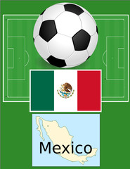 Mexico soccer football sport world flag map