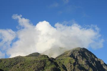 Himmeltinden and clouds