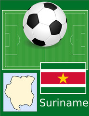 Suriname soccer football sport world flag map