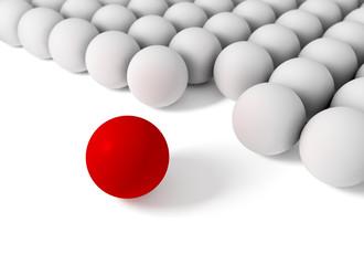 imagen conceptual 3d con grupo de bolas