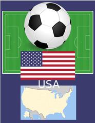USA soccer football sport world flag map