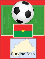 Burkina Faso soccer football sport world flag map