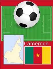 Cameroon soccer football sport world flag map