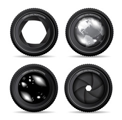 Vector illustration of camera lens