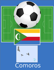 Comoros soccer football sport world flag map