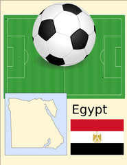 Egypt soccer football sport world flag map