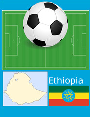 Ethiopia soccer football sport world flag map