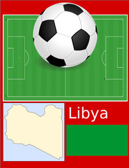Libya soccer football sport world flag map