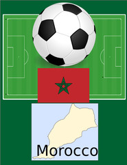 Morocco soccer football sport world flag map
