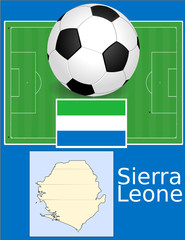 Sierra Leone soccer football sport world flag map