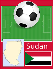 Sudan soccer football sport world flag map