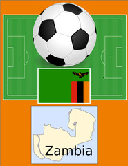 Zambia soccer football sport world flag map