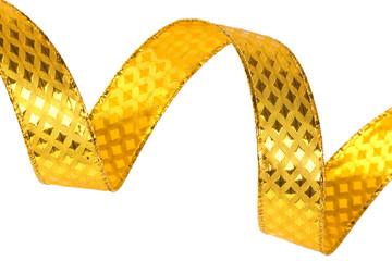Shiny gold ribbon