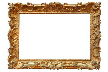 golden picture frame with a decorative pattern