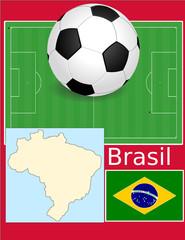 Brazil soccer football sport world flag map