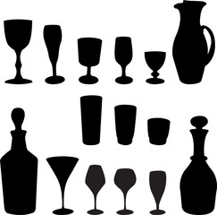 glasses collection - vector