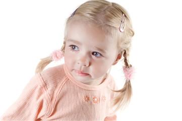 Little girl in studio