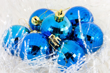 Christmas ball in tinsel