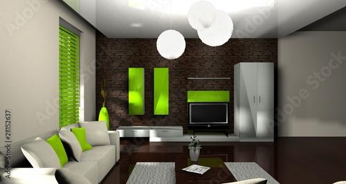 3d Wohnzimmer Grun Stockfotos Und Lizenzfreie Bilder Auf Fotolia