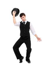 Attractive gentleman with hat posing