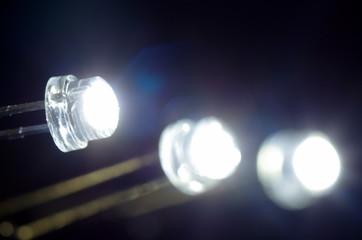 白色発光ダイオード/黒バック