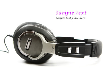 Headphones isolated on white. Shallow DOF