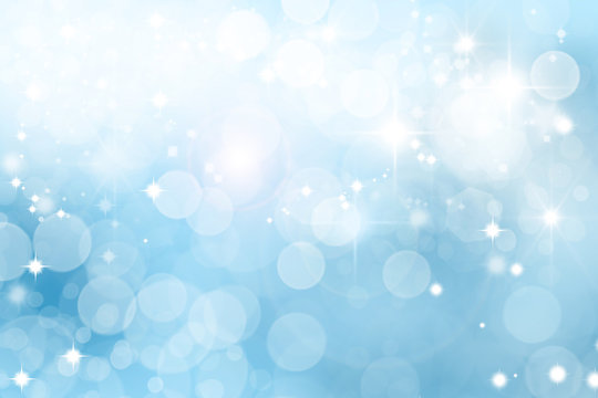 Winter with snow and stars abstract background