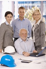 Confident businessteam