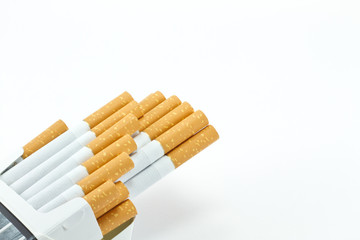 Cigarette isolated on white background