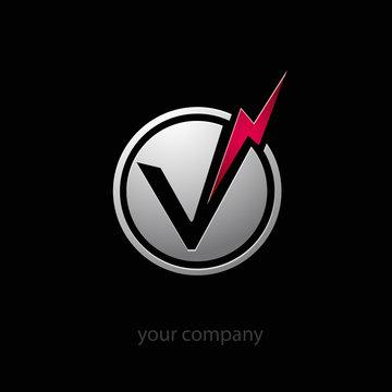 logo entreprise, électricité, volt