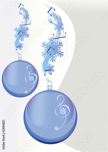Christmas balls decorated with winter music stock image and christmas balls decorated with winter music voltagebd Images