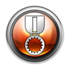 """Glossy Orb Button """"Award Medal"""""""