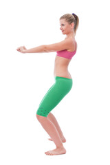 Women instructor exercising