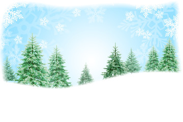 Christmas nature background design