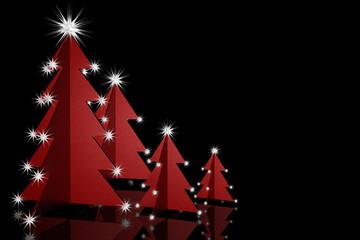 Weihnachtsbäume rot