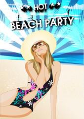 Partyflyer Vorlage Beachparty