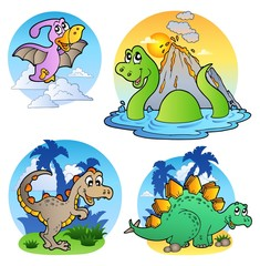 Photo sur Plexiglas Dinosaurs Various dinosaur images 1