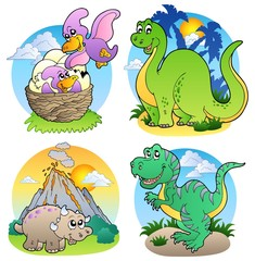 Photo sur Plexiglas Dinosaurs Various dinosaur images 2