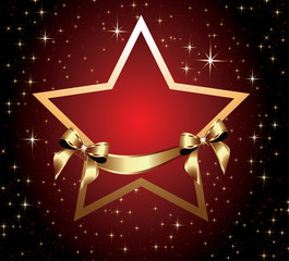 Red star with bow